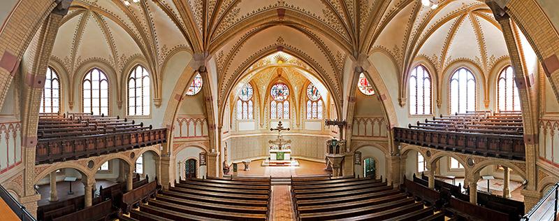 Trinitatiskirche Hainichen von innen