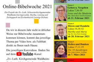 Online-Bibelwoche 2021 Schwesterkirchgemeinden Hartha